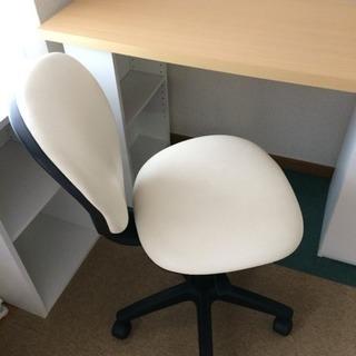簡易机 カラーボックスと椅子セット