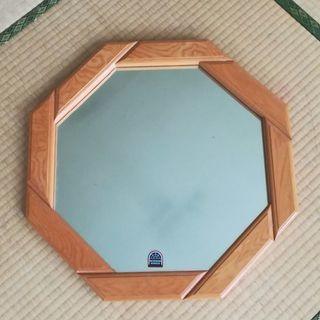 壁掛 鏡 ミラー 木目調