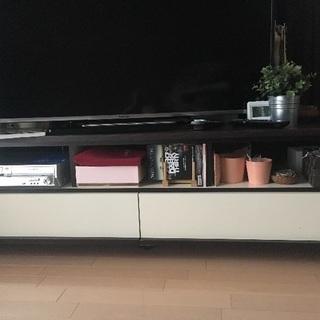 ブラウン×ホワイト テレビボード francfranc