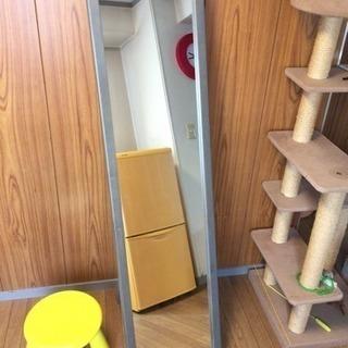 全身ミラー 鏡 立て掛けタイプ 姿見 木製フレーム
