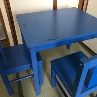 イケア 子供用イス2脚とテーブルセット