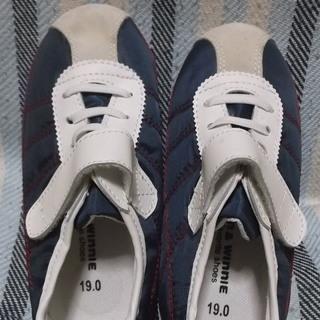 【新品未使用】靴 19センチ 紺×白_1 計3足あります