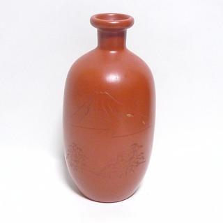 陶器の花瓶 一輪挿し 常滑焼?