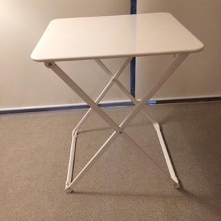 折りたたみ テーブル (サイドテーブル パソコン机 金属 オシャレ)