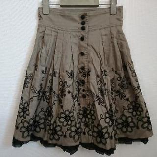 秋コーデ☆刺繍たっぷりスカート