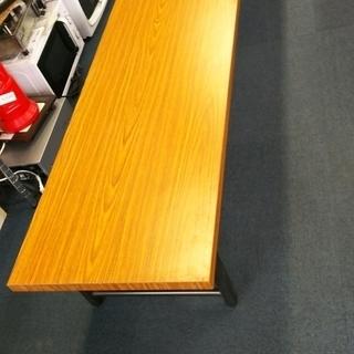 木目横長テーブル(脚折りたたみ式)