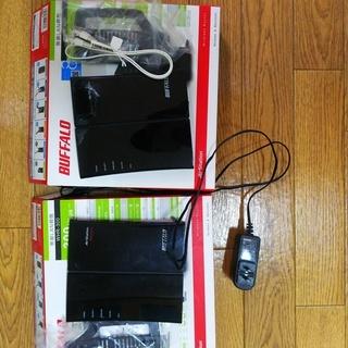 バッファロー製無線アクセスポイントWHR-300x2個中継可能(ワ...
