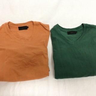 【格安処分品】【2枚セット】SLYZ スライ Tシャツ Vネック 半袖