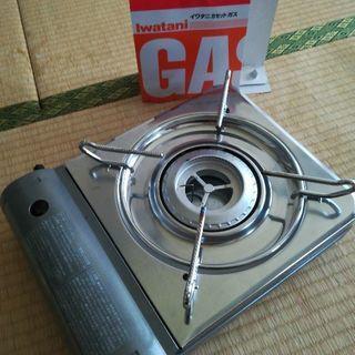 カセットコンロ 未使用のガス2本付