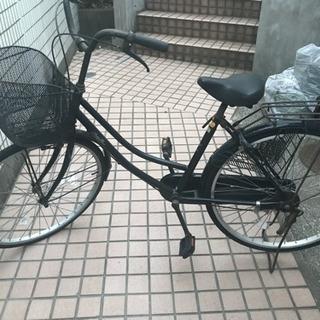 自転車 黒 鍵付き