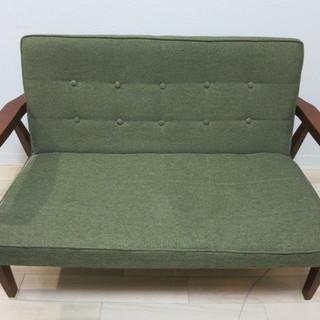 椅子 イス 二人掛け リビングなどに 横幅115cm×奥行60cm...