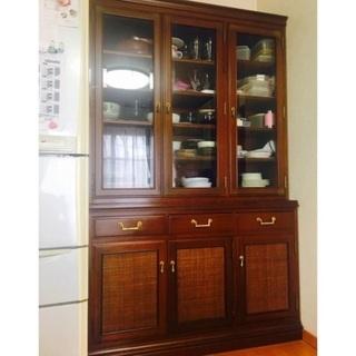 高級老舗メーカー マルニ木工 食器棚