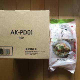新品 poddi ミニ 炊飯器 10分ごはん 0.5合~1.5合炊...
