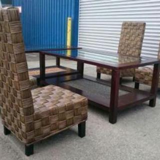 籐椅子テーブルセット バリオーダー
