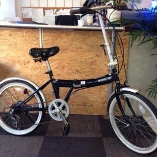 ホワイトリボンタイヤ 20インチ折りたたみ自転車