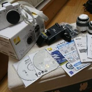 Nikon1 V1 白 10-30mm 30-110mm レンズセット