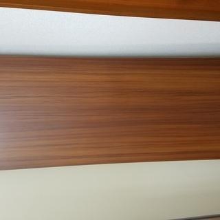 長テーブル 作業机 中古 茶色×2