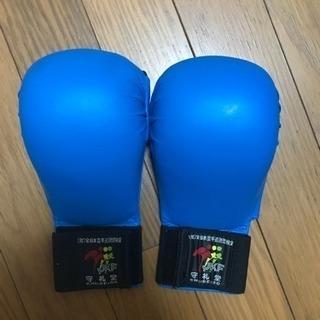 空手の拳サポ(青色)