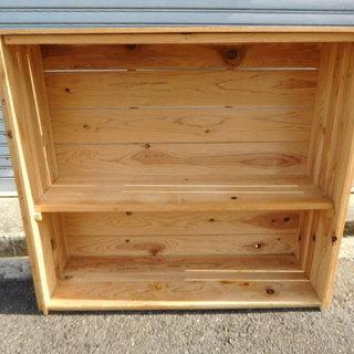 木製 2段ラック 収納 幅90cm×奥行30cm×高さ80cm
