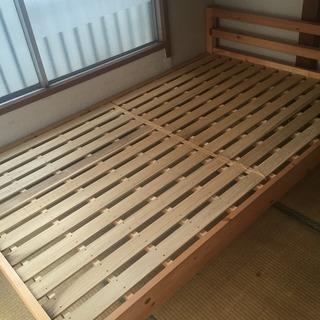 木製ベッド(セミダブル)(27日まで)