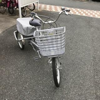 【三輪じてんしゃ】大人用三輪車 ナチュラルフロー