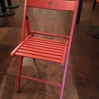 IKEA イケア 折りたたみ椅子 チェアー 赤