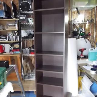 T505 本棚6段ブラウン木目調  本に合わせて調整可能!【綺麗♪】
