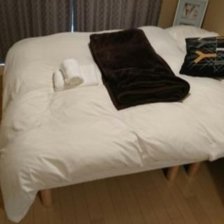 マットレス脚付ベッド 分離タイプ