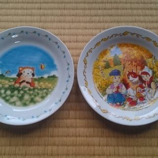 中古 アニメ皿 フランダースの犬 ラスカル 2枚セット