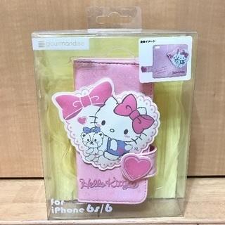 【新品未開封】iphon6 6s キティフリップケース くま ip...