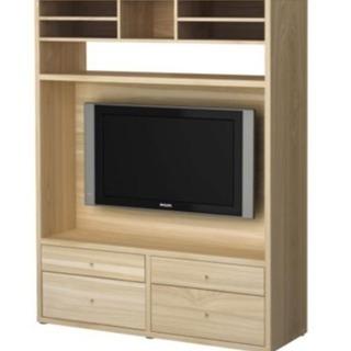 IKEA TRABY テレビ収納ユニット アッシュ材突板