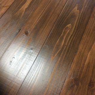 アンティークミシン脚の杉板無垢材のカフェテーブル💕 ハンドメイド🤗✨✨✨
