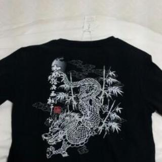 和柄ティーシャツ      「光言」   美品!