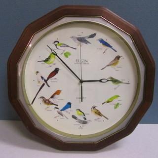 【ELGIN】エルジン◆バードクロック◆壁掛け時計◆野鳥の鳴き声◆...