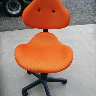 デスクチェア いす  ワークチェア 引取 椅子 オレンジ