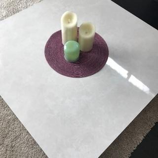 大理石柄加工 正方形ローテーブル