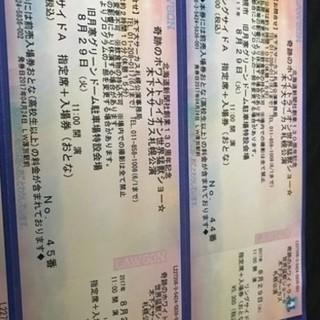 2枚セット 8月29日 木ノ下大サーカス 札幌公演