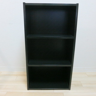 カラーボックス 黒 横48㎝×縦29㎝×高さ89㎝