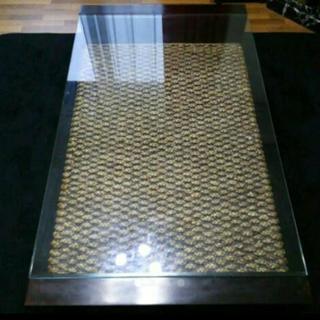 アジアンガラステーブル
