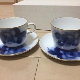 【未使用】ペアティーカップ 大倉陶園