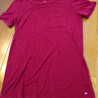 ●まだ現役●XS アメリカン イーグル 濃赤 Tシャツ レディース