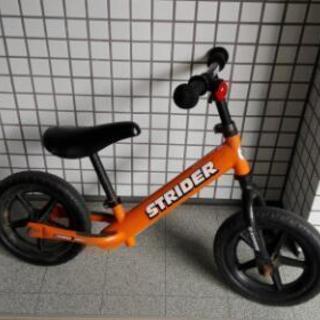 正規購入ストライダーオレンジ。自転車練習にも。