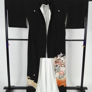 ★着物【限定】正絹 黒留袖 D-14★