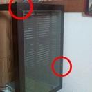 (中古)アジアンガラス&バンブーリビングテーブル