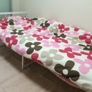 ニトリのベッド(✳︎掛け布団、枕はつきませんがベッドカバーは差し上...
