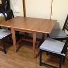 IKEAダイニングテーブル&イス4脚