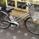 再投稿 パナソニック製 27インチ内装3段電動自転車