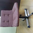 レトロな布張りの椅子