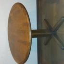 《お取引中》(カリモク)丸テーブル+椅子3個《価格交渉不可》