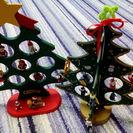 木製卓上クリスマスツリー2個